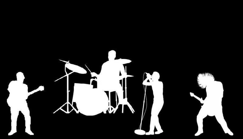 Rock Band Silhouette Facebook Timeline Cover Backgrounds ...