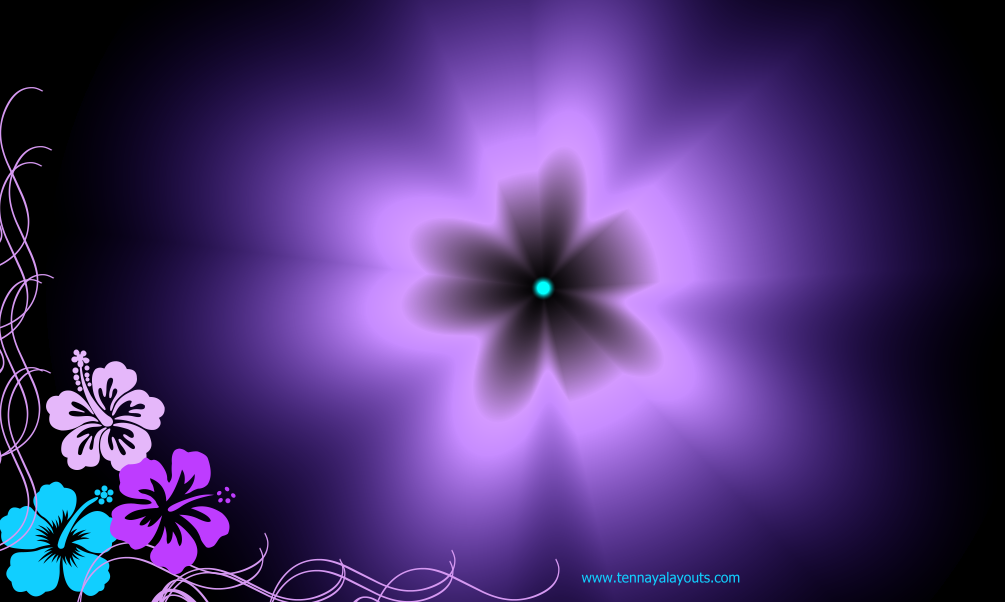 Pink, blue and purple hawaiian flowers Facebook Timeline ...