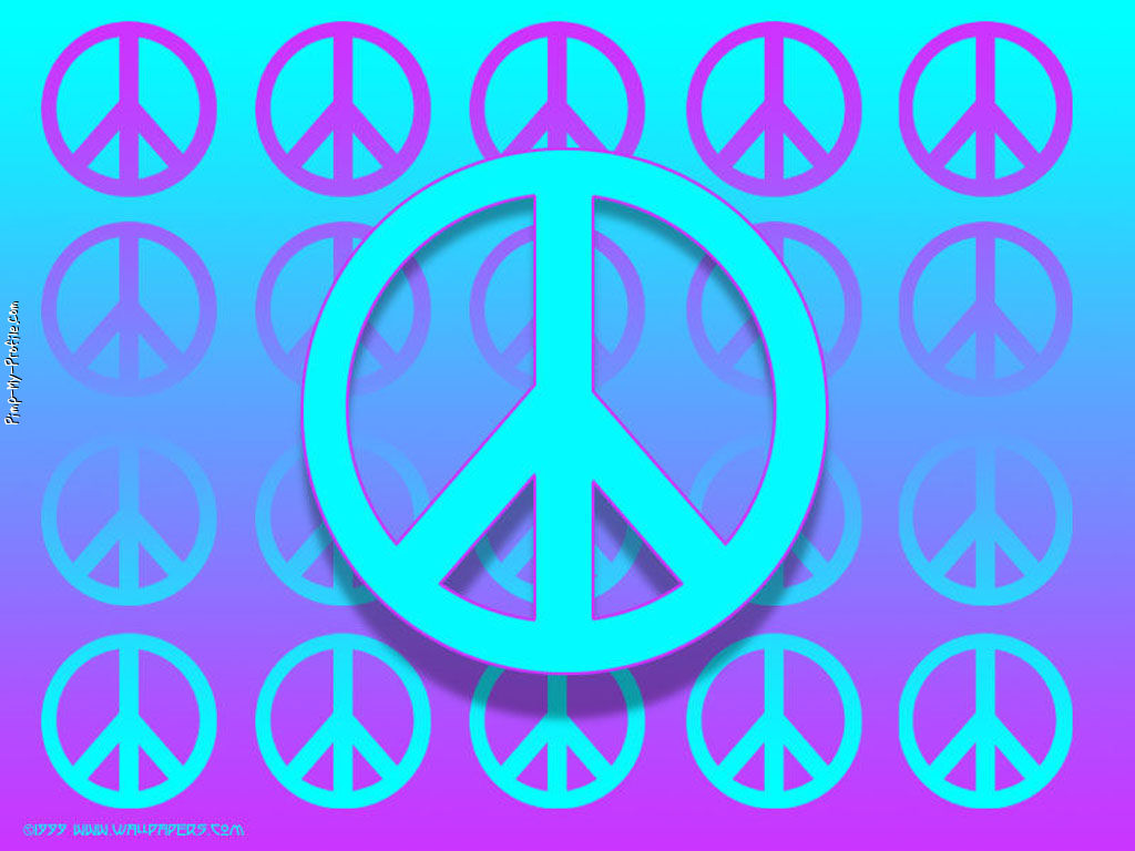 Turquoise & Purple Peace Signs Facebook Timeline Cover ...