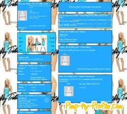 Myspace Layout Blue Jackets 92