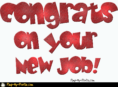 congrats on the new job