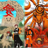 Naruto & Garra w/ Animals