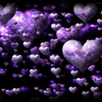 Purple Cloud Hearts