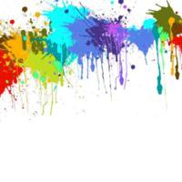 Colourful Splatter Paint