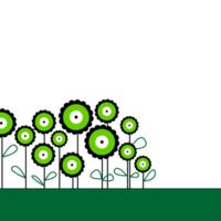 Green mod flowers