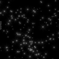White Stars on Black Sky
