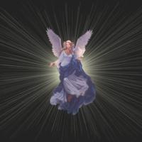 Angel in light burst