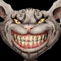 Goth Cheshire Cat