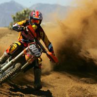 Dirt Bike Ripping It Up