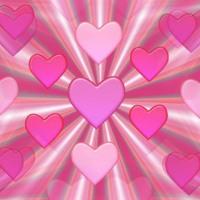 Pink Heart Burst