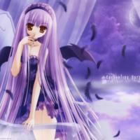 Enchanting Purple Anime Tinkerbell