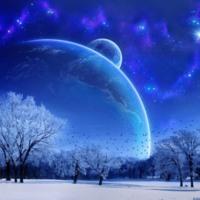Winter Planetary Night Sky